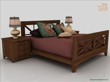 luxury low poly bed v2 3d model 3ds max fbx obj 106495