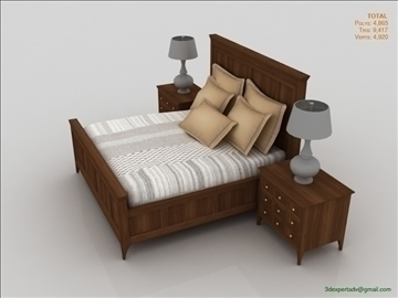 Luxury Low Poly Bed 3d Model Bedroom Realistic 3ds Max Fbx Obj Ar Vr