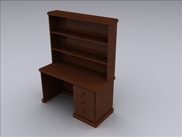realistic desk 3d model 3ds max fbx jpeg jpg obj 93010