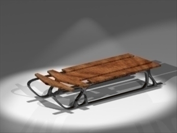 sleigh 3d model 3ds dxf lwo 81014