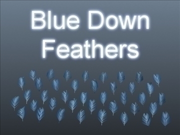 blue down feathers 001 3d model 3ds max obj 102478