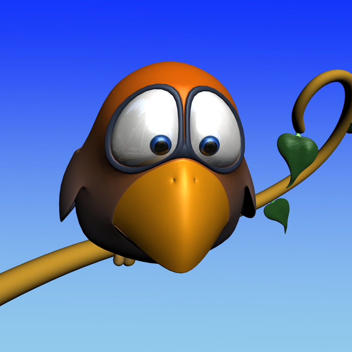 cartoon bird rigged 3d model 160312