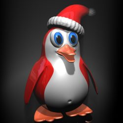 Christmas Penguin Rigged ( 201.84KB jpg by supercigale )