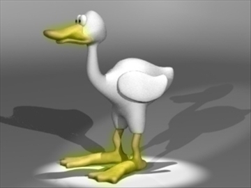 duck 3d model 3ds dxf lwo 80686