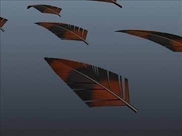 exotic feathers 001 3d model 3ds max obj 102508