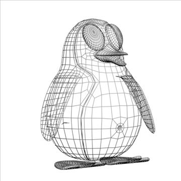 penguin cartoon rigged 3d model 3ds max fbx lwo obj 107842