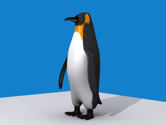 penguin emperor 3d model 3ds max fbx 150391