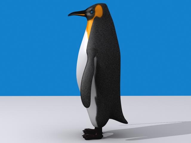 Penguin keisari 3d líkan 3ds max fbx 150394