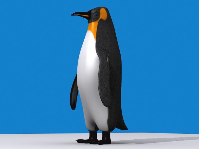 Penguin keisari 3d líkan 3ds max fbx 150395