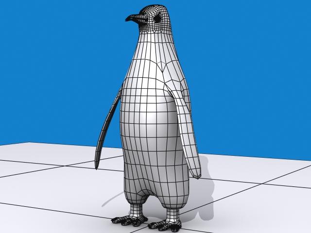 Penguin keisari 3d líkan 3ds max fbx 150397