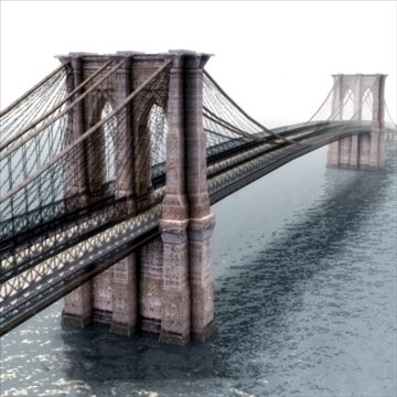 brooklyn bridge 3d model 3ds max lwo ma mb hrc xsi texture obj 110968