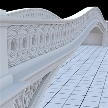 highly detailed central park bow bridge 3d model lwo lxo obj 103810