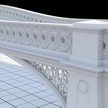 highly detailed central park bow bridge 3d model lwo lxo obj 103813