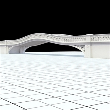 highly detailed central park bow bridge 3d model lwo lxo obj 103814