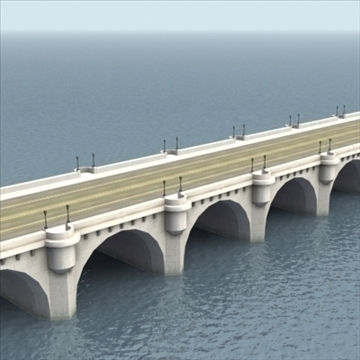 pont neuf bridge Model 3d 3ds max fbx ar gyfer gwead gwead 100447