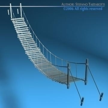 rope bridge 3d model 3ds dxf c4d obj 77833