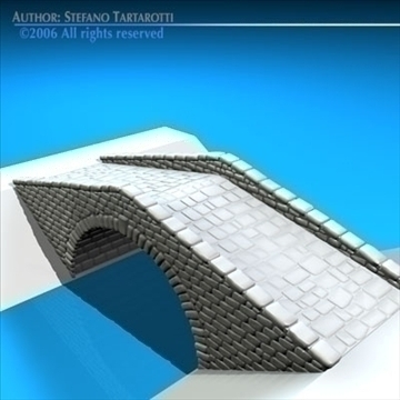 stone bridge v2 3d model 3ds dxf c4d obj 82458