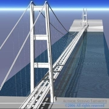 strait of messina bridge 3d model 3ds 78370