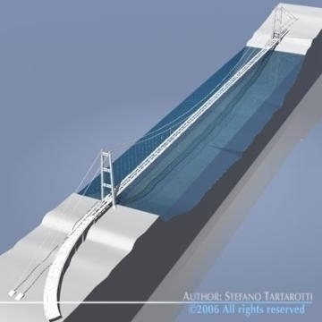 strait of messina bridge 3d model 3ds 78371