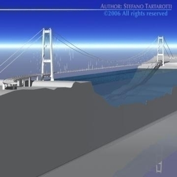 strait of messina bridge 3d model 3ds 78372