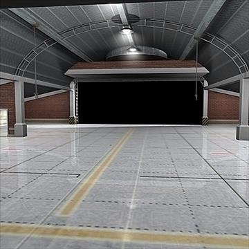 zrakoplovi hangar 3d model 3ds max c4d lwo obj 82260