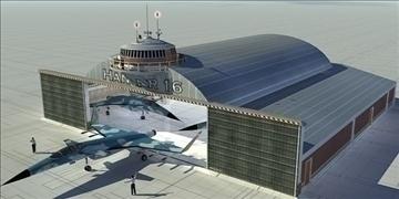 aircrafts hangar 3d model 3ds max c4d lwo obj 82261
