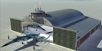 zrakoplovi hangar 3d model 3ds max c4d lwo obj 82261