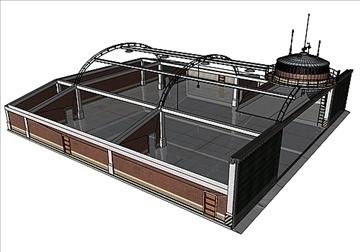 zrakoplovi hangar 3d model 3ds max c4d lwo obj 82266