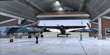 zrakoplovi hangar 3d model 3ds max c4d lwo obj 82267