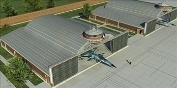 aircrafts hangar 3d model 3ds max c4d lwo obj 82268
