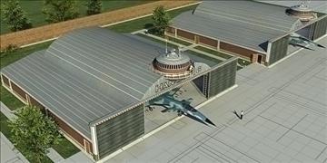 zrakoplovi hangar 3d model 3ds max c4d lwo obj 82268