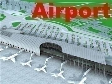 airport 04 3d model 3ds max 90763