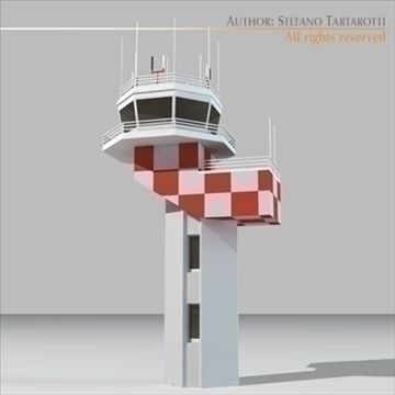 airport control tower 2 3d model 3ds dxf c4d obj 101365