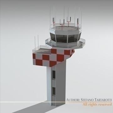 airport control tower 2 3d model 3ds dxf c4d obj 101366
