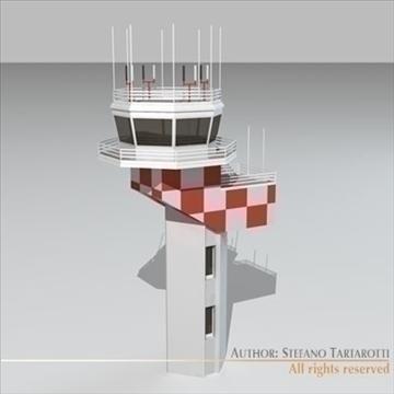 airport control tower 2 3d model 3ds dxf c4d obj 101367