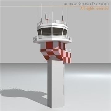 airport control tower 2 3d model 3ds dxf c4d obj 101368