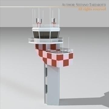airport control tower 2 3d model 3ds dxf c4d obj 101369