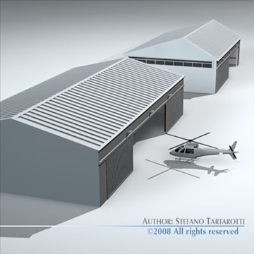 Hangars a l'aeroport model 3d 3ds dxf c4d obj 88859