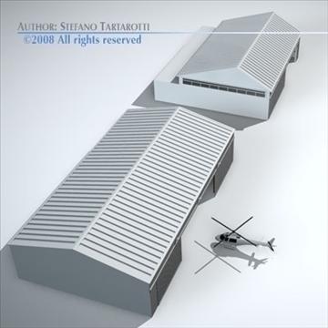 airport hangars 3d model 3ds dxf c4d obj 88860