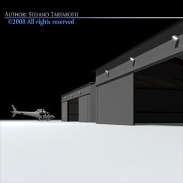 airport hangars 3d model 3ds dxf c4d obj 88863