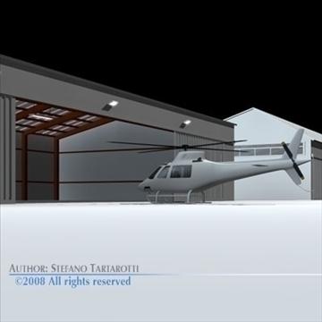 airport hangars 3d model 3ds dxf c4d obj 88864
