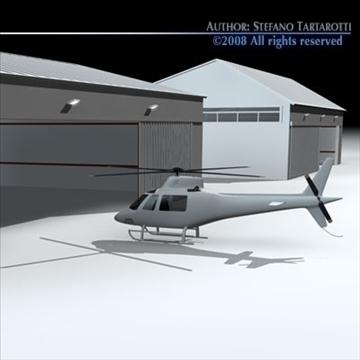 airport hangars 3d model 3ds dxf c4d obj 88865