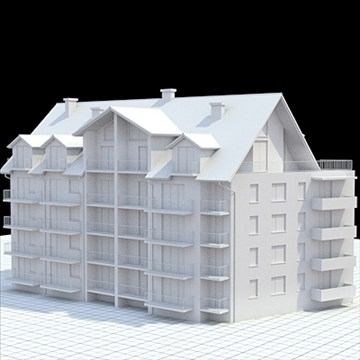 apartment building 2 3d model blend lwo lxo obj 111515