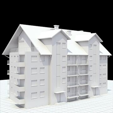 apartment building 2 3d model blend lwo lxo obj 111516