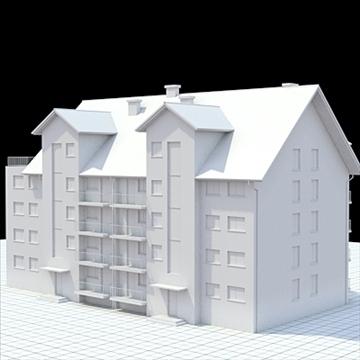 apartment building 2 3d model blend lwo lxo obj 111517