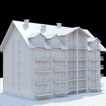 apartment building 2 3d model blend lwo lxo obj 111518