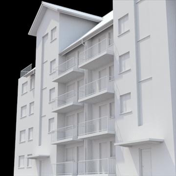 apartment building 2 3d model blend lwo lxo obj 111519