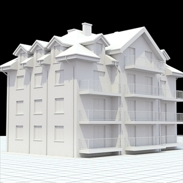 apartment building 3 3d model blend lwo lxo obj 111521