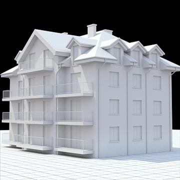 apartment building 3 3d model blend lwo lxo obj 111522