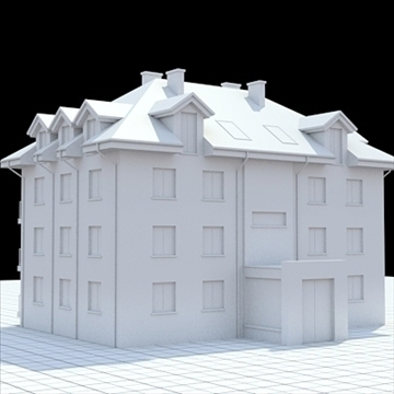 apartment building 3 3d model blend lwo lxo obj 111523